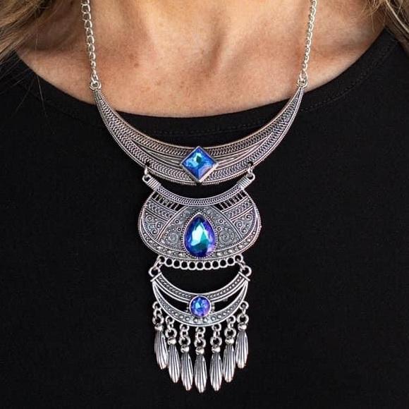 Paparazzi Lunar Enchantment Blue Necklace, NWT